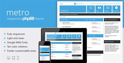 phpbb forum templates metro a responsive theme for phpbb3
