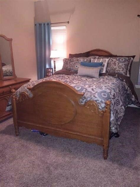 lexington bedroom set  piece mirror solid oak vintage ebay