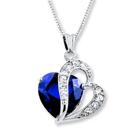 jewelry silver jared blue white lab created sapphire sterling silver