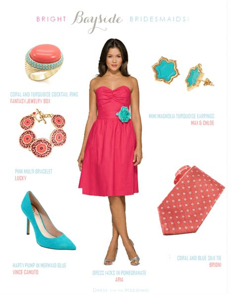 what color goes with coral coral dress with teal shoes the knot