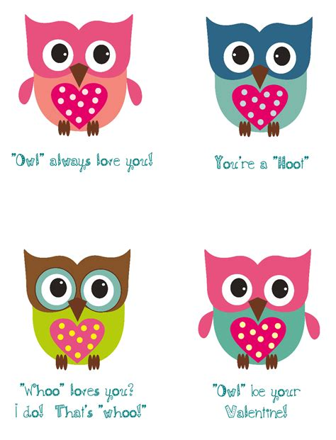 printable owl card pretty printable valentine quotes quotesgram