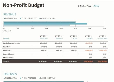 not for profit budget template non profit budget template template business