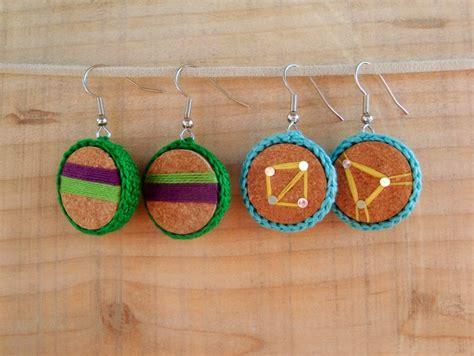 Make Handmade Earrings - wine cork earrings 30 minute crafts