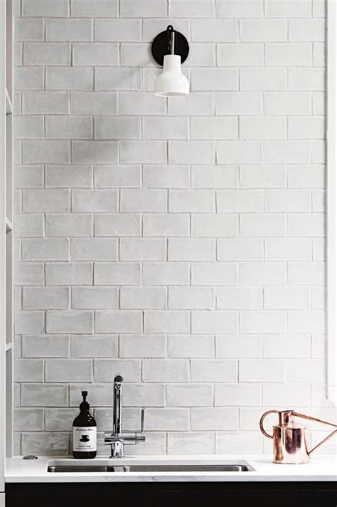 Handcrafted Wall - best 25 white brick tiles ideas on white