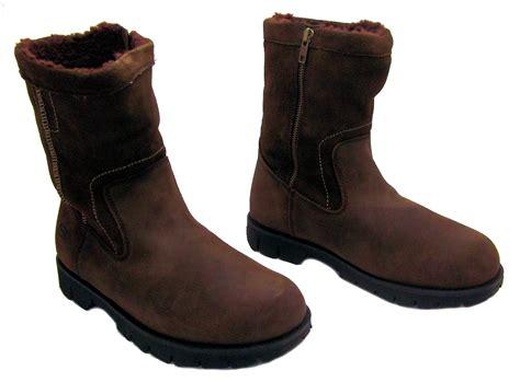 skechers framing s brown zip up leather warm
