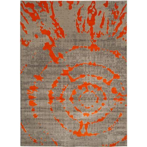 Safavieh Porcello Rug by Safavieh Porcello Light Grey Orange 10 Ft X 14 Ft Area