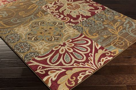 pink and brown area rugs surya arabesque abs3025 pink brown medallion and damask area rug rugmethod