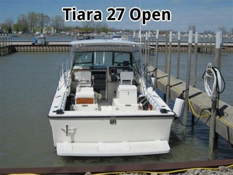 tiara boats 2700 open used 1989 tiara 2700 open port clinton oh 43452