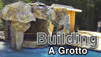 How To Build A Waterfall In Your Backyard Backyard Waterfalls Building A Grotto Youtube