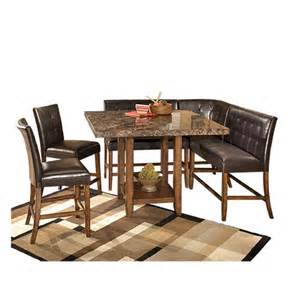 shop for signature design by ashley quot lacey quot 6 piece bar woodgrove bar height dining stool set of 2 the brick