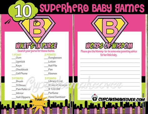 Word Signs Home Decor Superhero Baby Shower Games Instant Download