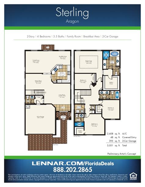 estate floor plans aragon by lennar homes estate home floorplans