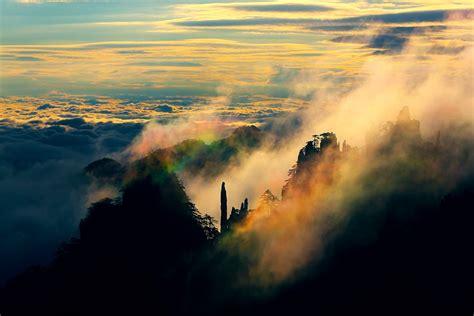 breathtaking scenery breathtaking scenery of huangshan mountain captured on