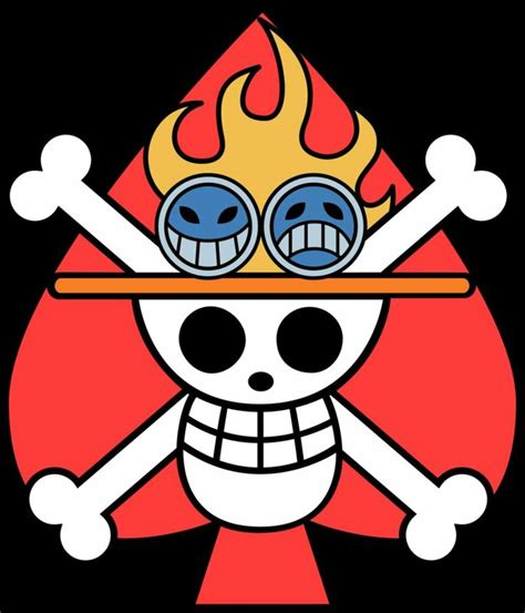image ace tattoo one piecefact about my top anime boy ace of spades pirates one piece jolly roger treasure map