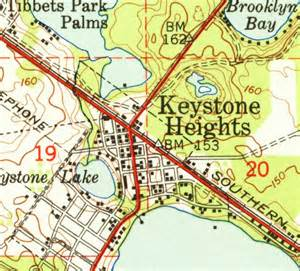 keystone heights florida map map of keystone heights 1949 florida