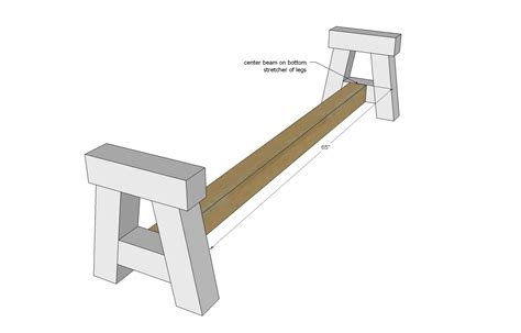 4x4 bench ana white 4x4 truss benches diy projects