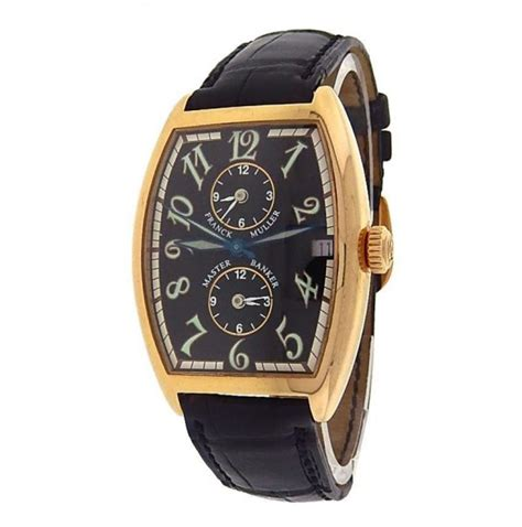 Franck Muller Master Square Rosegold Black Leather franck muller master banker 2852mb 18k gold black leather black s