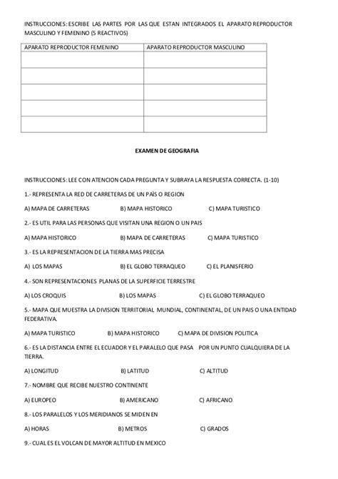 cuestionarios de historia cuarto quinto y sexto grado de examen bimestre 2 quinto grado 2012 2013