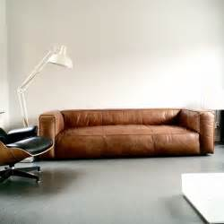 sofa cognac leder this vintage design leather sofa cognac sofa home