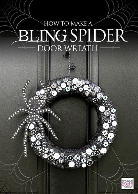 bling spider halloween wreath soiree event