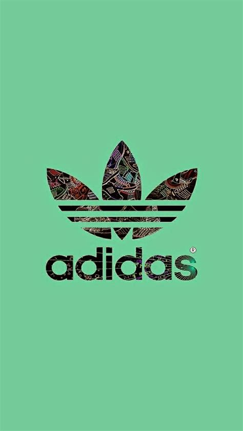 adidas wallpaper adidas logo green background wallpaper for iphone x 8 7