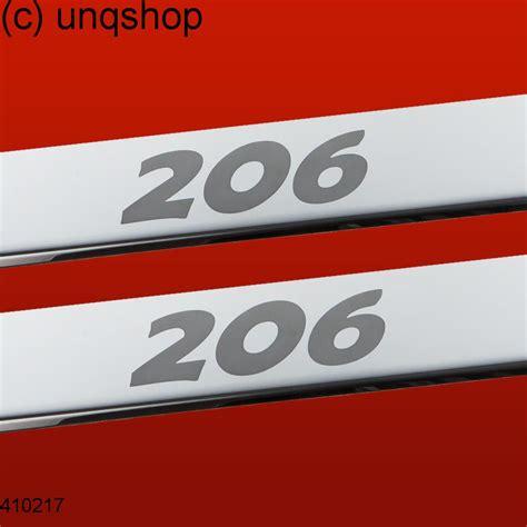 peugeot number door sills 206 peugeot 206 only for 3 doors