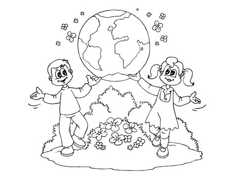 earth day coloring pages for kindergarten world day earth day printable coloring pages for preschool