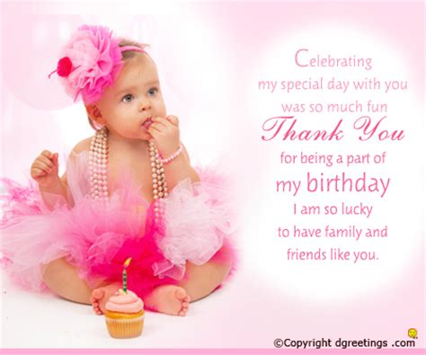 1st birthday thank you card template 1st birthday thank you cards