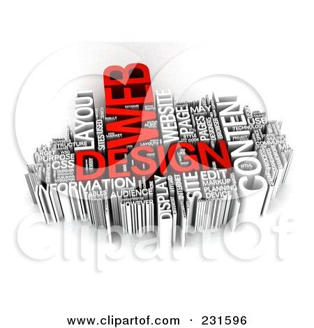 design poster in word royalty free rf web design collage clipart