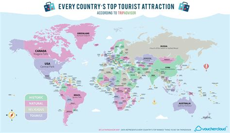best tourist attractions in the world tourist attraction of every country in the world on one map
