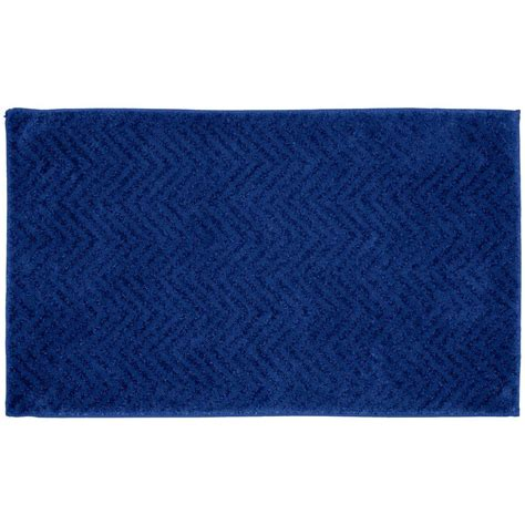 indigo blue rug garland rug palazzo indigo blue 21 in x 34 in bath rug ba090w021034k2 the home depot