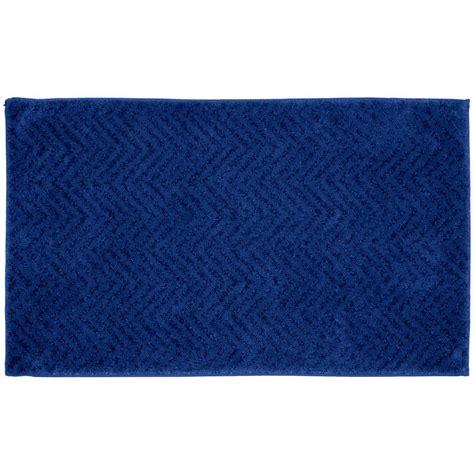 blue pattern bath rug garland rug palazzo indigo blue 21 in x 34 in bath rug