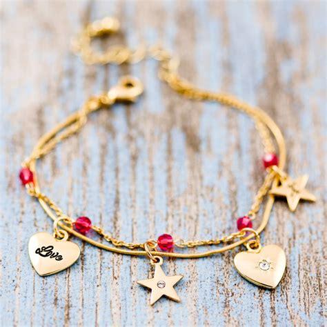 personalised delicate bead charm bracelet by j s jewellery