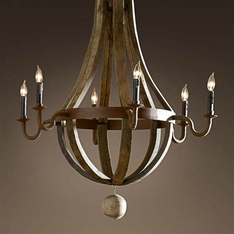 dining room candle chandelier american nostalgia retro handmade wooden chandelier candle