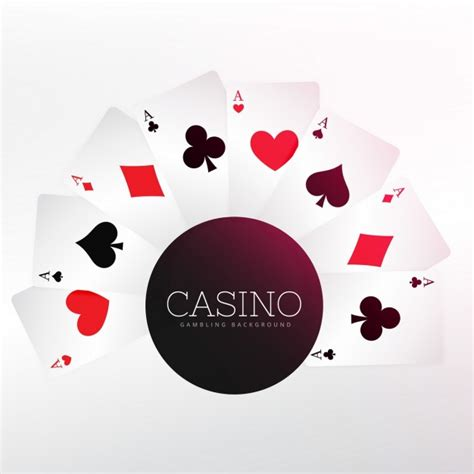 vector casino background  cards