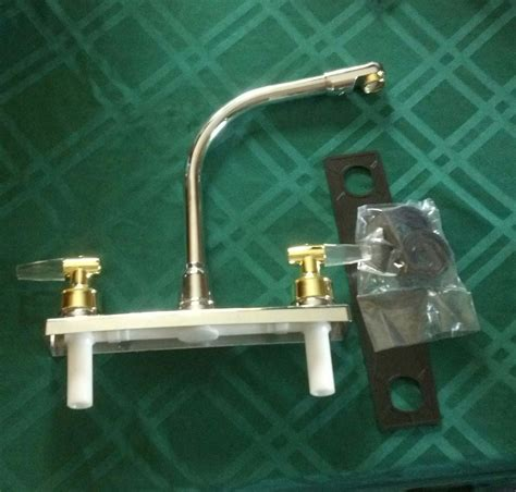 replacing rv sink faucet new rv motorhome camper replacement 2 tone kitchen
