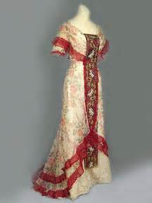 Floral tulle dress with beaded embroidered panels c 1905