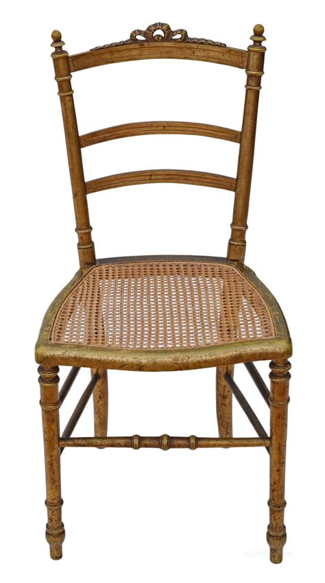 antique bedroom chair victorian gilt cane inlaid bedroom side hall chair