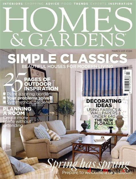 homes gardens march    magazines