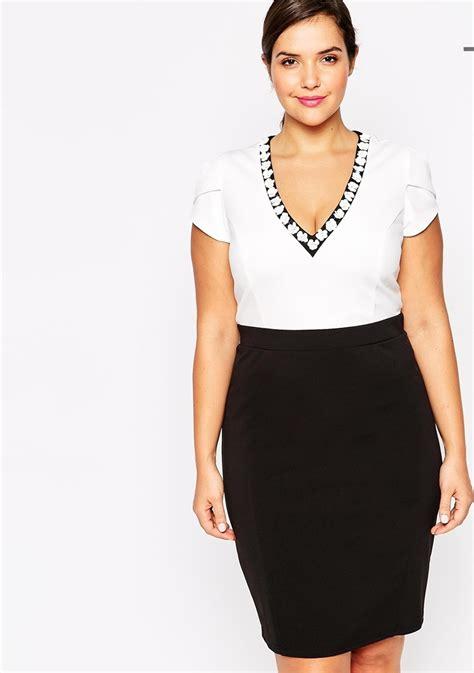 Dress Rauna Rk 043 Size Xxxl fashion design plus size work dress v neck pencil dress with lace patchwork in collar