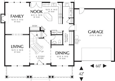 2500 square foot floor plans traditional style house plan 4 beds 2 5 baths 2500 sq ft