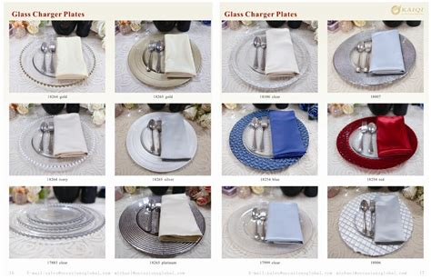 clear glass charger plates wholesale pz22640 cheap wedding silver glass beaded gold charger