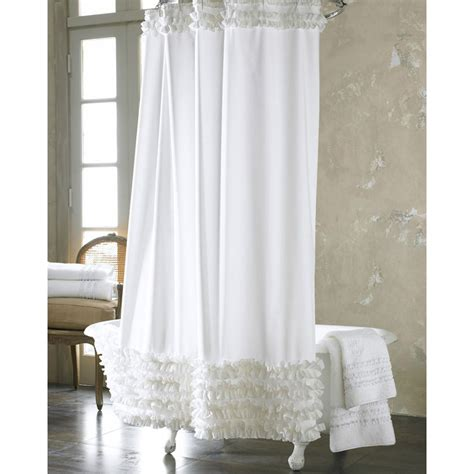 Luxurious Shower Curtains Dreamy White Lace Luxury Shower Curtains
