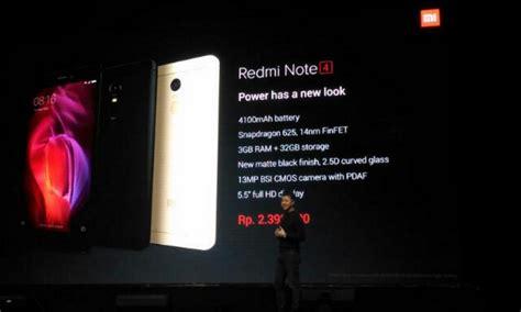 Harga Samsung Redmi Note 4 sambangi indonesia berapa harga xiaomi redmi note 4 telset
