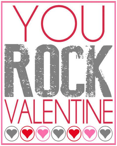 you rock valentines free printable you rock valentines gift