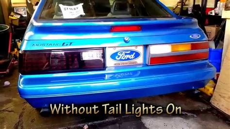 fox body led tail lights 1986 mustang led tail lights brake lights and signal
