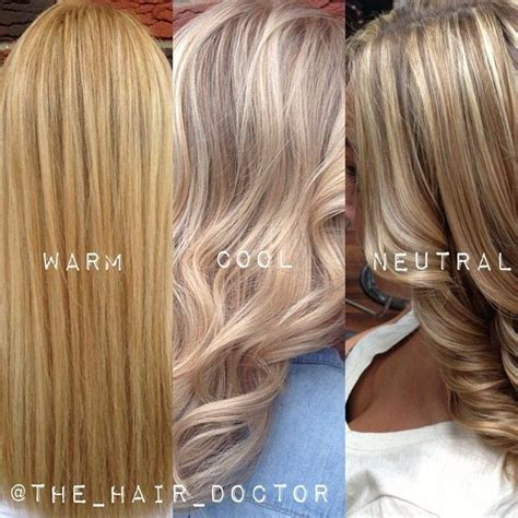neutral hair colors the difference between warm cool and neutral blondes