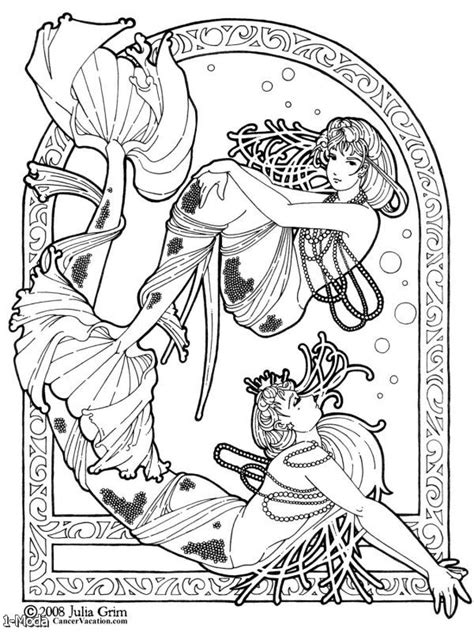 mermaid colouring pages for adults mermaids for adults coloring pages