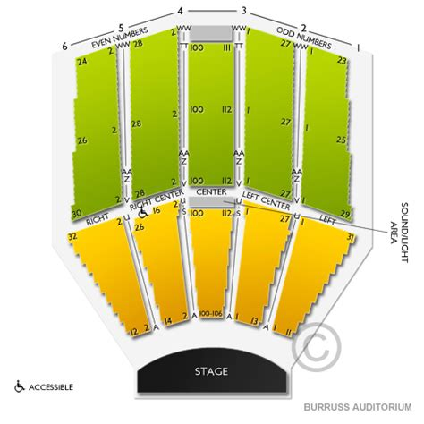 burruss auditorium seating chart seats