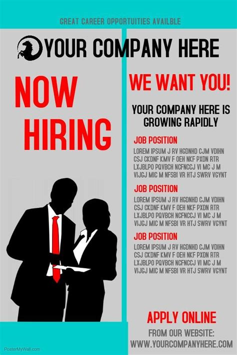 hiring template hiring ad template poster templates postermywall staffi on